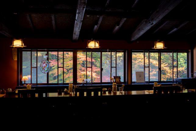紅葉の柏屋カフェ